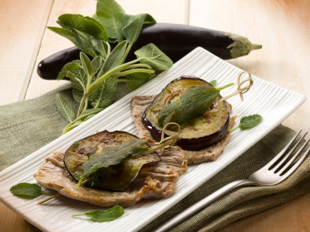 saltimbocca with eggplants