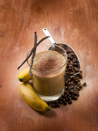 brown banana: drink smoothie with coffee banana and vanilla