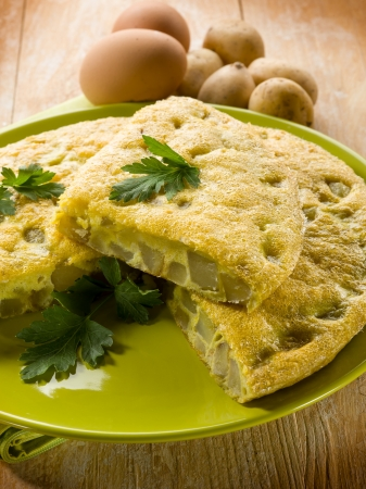omelette with potatoes photo