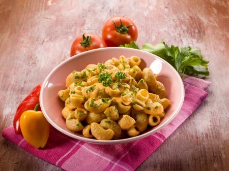 pasta  with pepper cream sauce