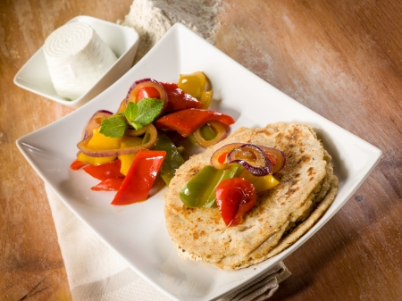 tortillas with capsicum photo