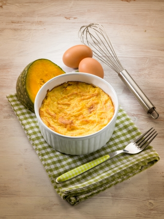 omelet: pumpkin pie Stock Photo