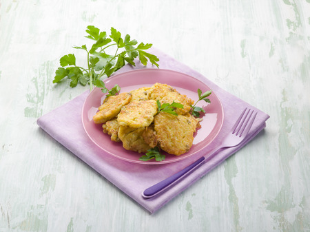 rice cake: rice croquette with parsley