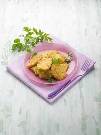 croquettes: rice croquette with parsley