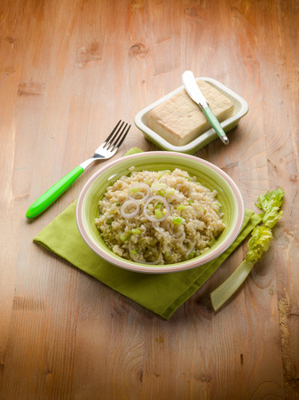 stracchino: risotto with stracchino cheese Stock Photo