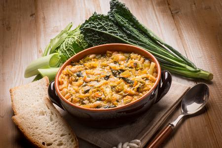 ribollita 伝統的なトスカーナのスープ 写真素材