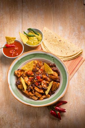 fajita: mexican chili Stock Photo