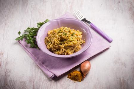 ragout: pasta with fish ragout Stock Photo