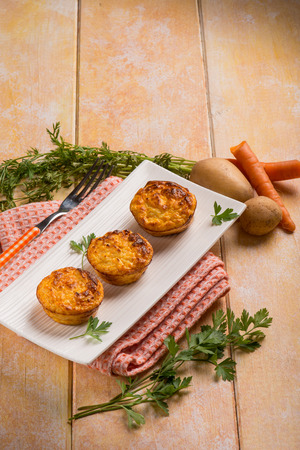 muffin: carrot and potatoes muffins Stock Photo