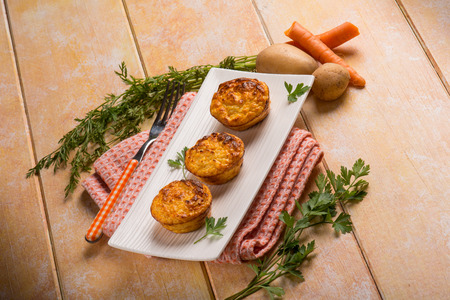 salted: carrot and potatoes muffins Stock Photo