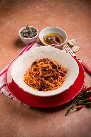 fish sauce: spaghetti puttanesca