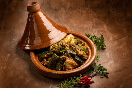 tajine with meat vegetables and spice Stockfoto