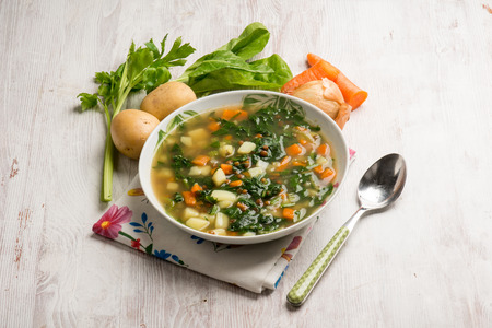 vegetable soup: vegetable soup with swiss chard