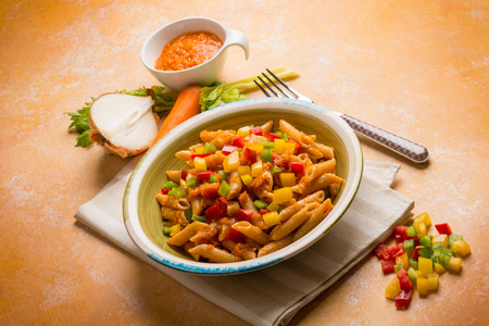 veggies: Pasta with mixed vegetables ragout