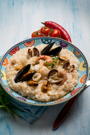 seafruit: seafruit risotto Stock Photo