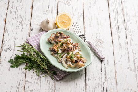 cuttlefish: roasted cuttlefish with parsley and lemon