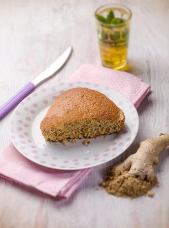 homemade ginger cake, selective focus