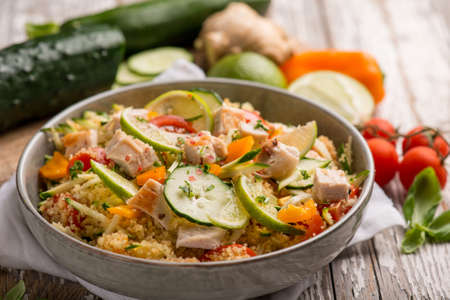 mixed vegetables couscous with chicken
