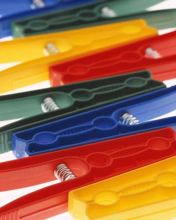 clothespegs: Colourful clothes-pegs