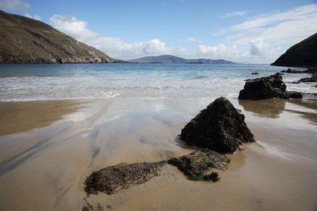 achill: Beach in Achill Island, Ireland. Stock Photo