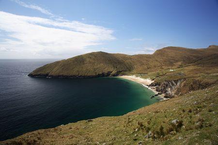 achill: Bay with beach in Achill Island, Ireland. Stock Photo