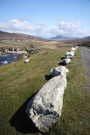 achill: Road by the coast in Achill Island, Ireland.