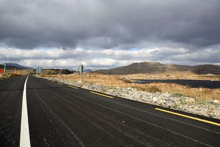connemara: Road in the Connemara region in Ireland.
