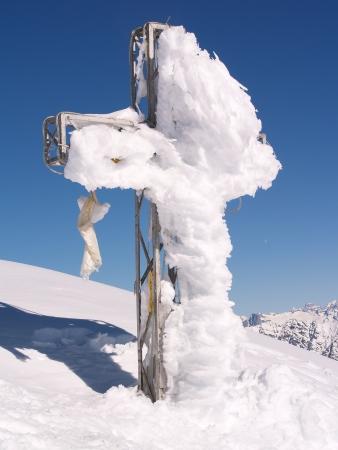 Cross in mountain Stock Photo - 17486721