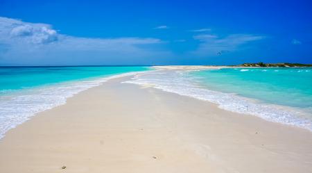 sandbank: Beach in Caribbean with a sandbank Stock Photo