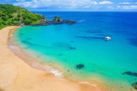 brazil beach: Beach in Brazil with a colorful sea Stock Photo