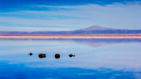 Stones in a lagoon photo