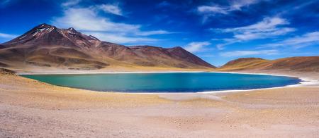 atacama: Altiplanic lagoon in Atacama desert