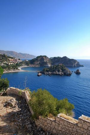 bella: An awesome landscape of Isola Bella in Taormina