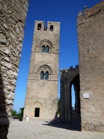glimpse: Glimpse of the Chiesa Matrice of Erice Stock Photo