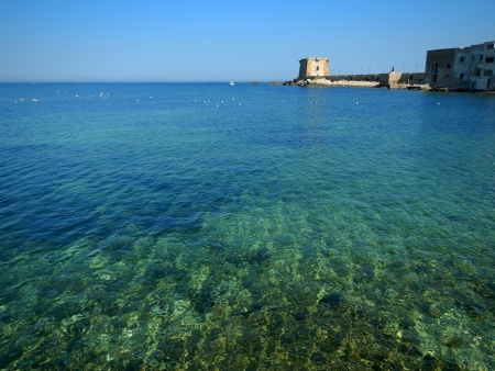 trapani: The colors of the sea of Trapani