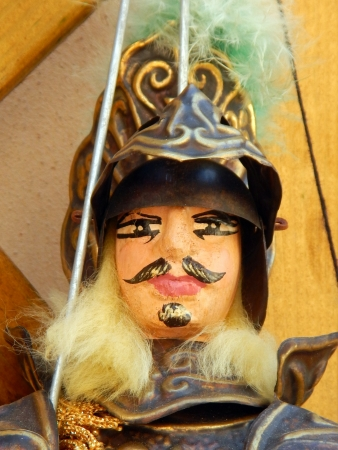 mediterrean: Closeup of the head of a sicilian puppet Stock Photo