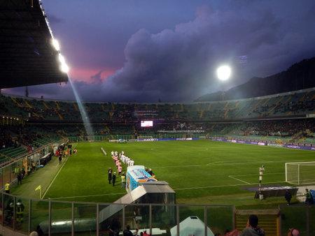 PALERMO, ITALIA - 22 febbraio 2014 - US Città di Palermo vs Spezia Calcio - Serie B Eurobet