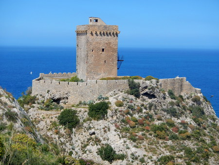 Altavilla Milicia - Torre Normanna Archivio Fotografico