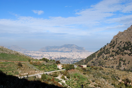 Panorama of Palermo from above