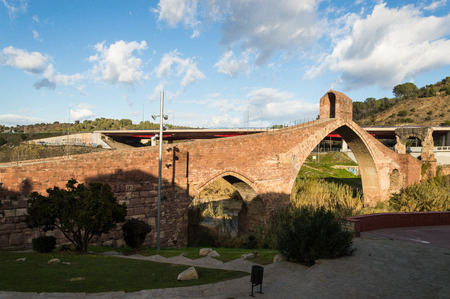 A view of the Devils Bridge in Martorell, Catalunya