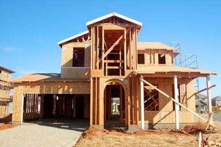 houses under construction Reklamní fotografie