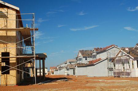 cladding tile: houses under construction