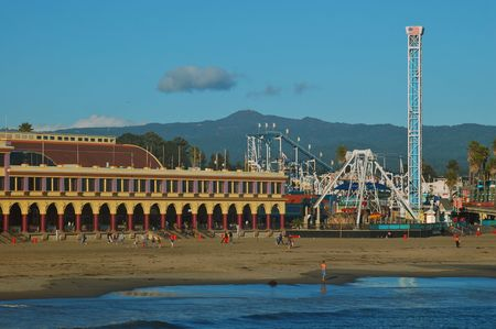 Boardwalk in Santa Cruz, California photo