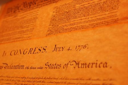 United States Declaration of Indenedence Stock Photo - 282266