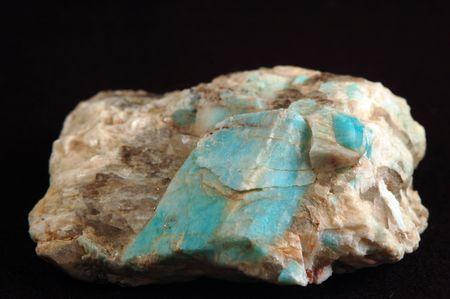 amazonite: Amazonite crystals in matrix Stock Photo