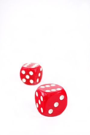 Large red dice