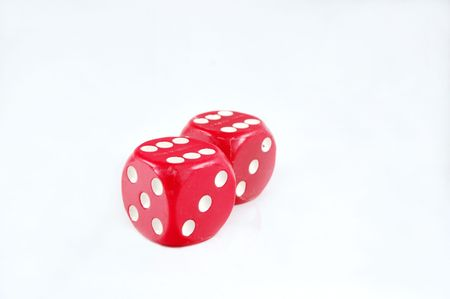 Large red dice photo