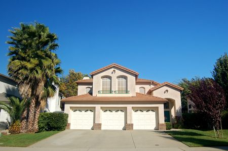 a suburban house in California Stock Photo