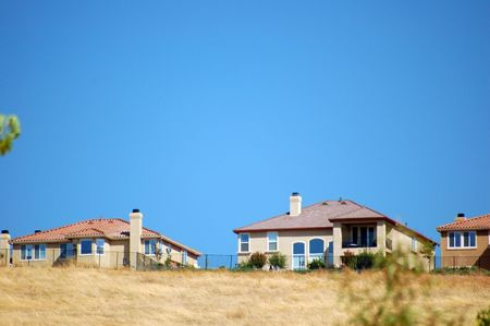 houses on a hillside Stock Photo - 334764