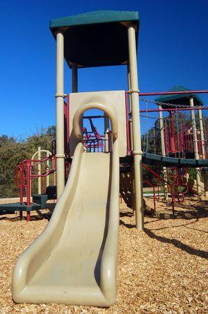 childrens playground at the park photo